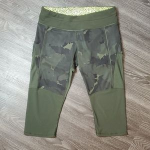 Lululemon Training Tough Camo Crops